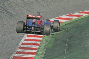 World © Octane Photographic Ltd. Formula 1 Winter testing, Barcelona – Circuit de Catalunya, 3rd March 2013. Toro Rosso STR8, Daniel Ricciardo. Digital Ref: 0584lw1d0527
