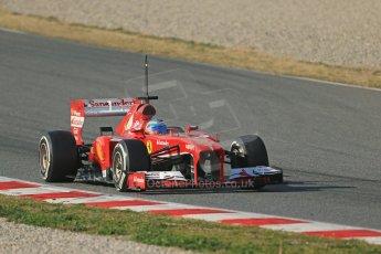 World © Octane Photographic Ltd. Formula 1 Winter testing, Barcelona – Circuit de Catalunya, 3rd March 2013. Ferrari F138 – Fernando Alonso. Digital Ref: 0584lw1d0561