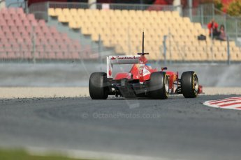 World © Octane Photographic Ltd. Formula 1 Winter testing, Barcelona – Circuit de Catalunya, 3rd March 2013. Ferrari F138 – Fernando Alonso. Digital Ref: 0584lw1d0683