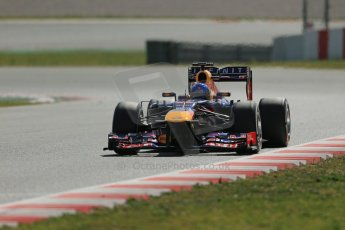World © Octane Photographic Ltd. Formula 1 Winter testing, Barcelona – Circuit de Catalunya, 3rd March 2013. Infiniti Red Bull Racing RB9. Sebastian Vettel. Digital Ref: 0584lw1d0798
