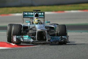 World © Octane Photographic Ltd. Formula 1 Winter testing, Barcelona – Circuit de Catalunya, 3rd March 2013. Mercedes AMG Petronas  F1 W04 – Nico Rosberg. Digital Ref: 0584lw1d1118