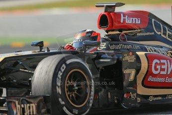 World © Octane Photographic Ltd. Formula 1 Winter testing, Barcelona – Circuit de Catalunya, 3rd March 2013. Lotus E31, Kimi Raikkonen. Digital Ref: 0584lw1d1231