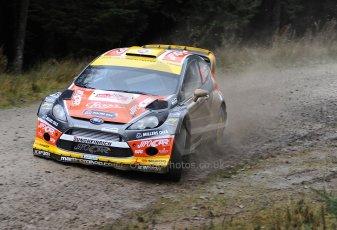 World © Octane Photographic Ltd./Louise Tope. WRC GB 14th November 2013. Digital Ref. : 0874ltd7004578
