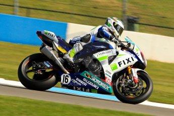 World © Octane Photographic Ltd. World Superbikes (SBK) European GP – Donington Park – Free Practice. Fixi Crescent Suzuki - Suzuki GSX-R-R1000 – Jules Cluzel. Saturday 25th May 2013. Digital Ref : 0698ce1d3297