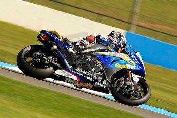 World © Octane Photographic Ltd. World Superbikes (SBK) European GP – Donington Park – Free Practice. BMW Motorrad GoldBet SBK – BMW S1000RR – Marco Melandri. Saturday 25th May 2013. Digital Ref : 0698ce1d3347