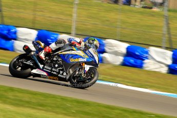 World © Octane Photographic Ltd. World Superbikes (SBK) European GP – Donington Park – Free Practice. BMW Motorrad GoldBet SBK – BMW S1000RR – Chaz Davies. Saturday 25th May 2013. Digital Ref : 0698ce1d3382