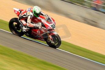 World © Octane Photographic Ltd. World Superbikes (SBK) European GP – Donington Park – Free Practice. Team Ducati Alstare - Ducati 1199 Panigale R – Niccolo Canepa. Saturday 25th May 2013. Digital Ref : 0698ce1d3646