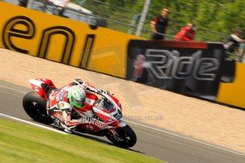 World © Octane Photographic Ltd. World Superbikes (SBK) European GP – Donington Park – Free Practice. Team Ducati Alstare - Ducati 1199 Panigale R – Niccolo Canepa. Saturday 25th May 2013. Digital Ref : 0698ce1d3750