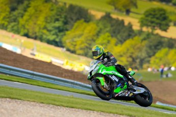 World © Octane Photographic Ltd. World Superbikes (SBK) European GP – Donington Park – Qualifying Practice. Team Pedercini – Kawasaki ZX-10R – Alexander Lundh. Saturday 25th May 2013. Digital Ref :