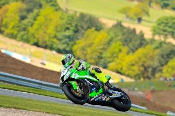 World © Octane Photographic Ltd. World Superbikes (SBK) European GP – Donington Park – Qualifying Practice. Team Pedercini - Kawasaki ZX-10R – Federico Sandi. Saturday 25th May 2013. Digital Ref :