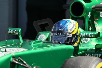 World © Octane Photographic Ltd. Formula 1 - Young Driver Test - Silverstone. Friday 19th July 2013. Day 3. Caterham F1 Team CT03 – Charles Pic. Digital Ref :0755lw1d0171