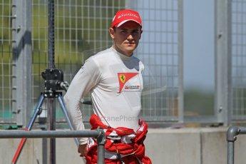 World © Octane Photographic Ltd. Formula 1 - Young Driver Test - Silverstone. Friday 19th July 2013. Day 3. Scuderia Ferrari F138 – Davide Rigon. Digital Ref : 0755lw1d0197