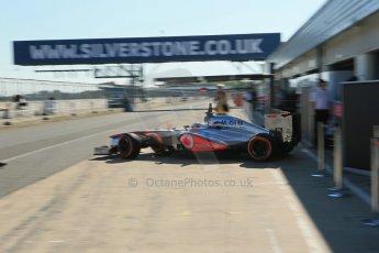 World © Octane Photographic Ltd. Formula 1 - Young Driver Test - Silverstone. Friday 19th July 2013. Day 3. Vodafone McLaren Mercedes MP4/28 – Gary Paffett. Digital Ref: 0755lw1d49823
