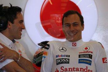 World © Octane Photographic Ltd. Formula 1 - Young Driver Test - Silverstone. Friday 19th July 2013. Day 3. Vodafone McLaren Mercedes MP4/28 – Gary Paffett. Digital Ref: 0755lw1d9779