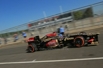 World © Octane Photographic Ltd. Formula 1 - Young Driver Test - Silverstone. Friday 19th July 2013. Day 3. Lotus F1 Team E21 – Nicolas Prost. Digital Ref :  0755lw1d9867