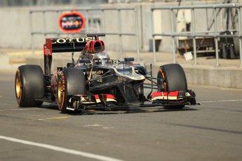 World © Octane Photographic Ltd. Formula 1 - Young Driver Test - Silverstone. Thursday 18th July 2013. Day 2. Lotus F1 Team E21 - Davide Valsecchi. Digital Ref : 0753lw1d6010