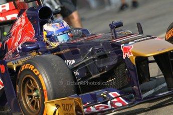 World © Octane Photographic Ltd. Formula 1 - Young Driver Test - Silverstone. Thursday 18th July 2013. Day 2. Scuderia Toro Rosso STR8 - Daniel Ricciardo. Digital Ref : 0753lw1d6145