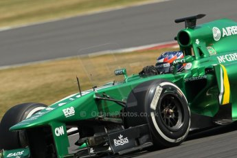 World © Octane Photographic Ltd. Formula 1 - Young Driver Test - Silverstone. Thursday 18th July 2013. Day 2. Caterham F1 Team CT03 – Will Stevens. Digital Ref : 0753lw1d6301