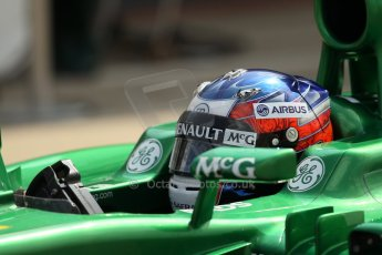 World © Octane Photographic Ltd. Formula 1 - Young Driver Test - Silverstone. Thursday 18th July 2013. Day 2. Caterham F1 Team CT03 – Will Stevens. Digital Ref : 0753lw1d6438