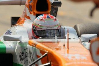 World © Octane Photographic Ltd. Formula 1 - Young Driver Test - Silverstone. Thursday 18th July 2013. Day 2. Sahara Force India VJM06  -  Paul Di Resta. Digital Ref : 0753lw1d6547