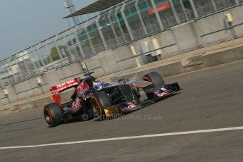 World © Octane Photographic Ltd. Formula 1 - Young Driver Test - Silverstone. Thursday 18th July 2013. Day 2. Scuderia Toro Rosso STR8 - Daniel Ricciardo. Digital Ref : 0753lw1d9042