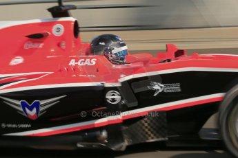 World © Octane Photographic Ltd. Formula 1 - Young Driver Test - Silverstone. Thursday 18th July 2013. Day 2. Marussia F1 Team MR02 - Rodolfo Gonzalez. Digital Ref : 0753lw1d9221