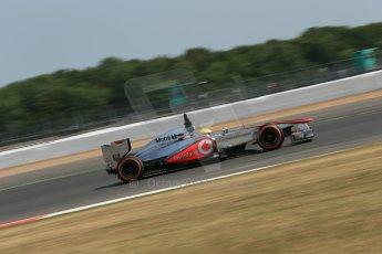 World © Octane Photographic Ltd. Formula 1 - Young Driver Test - Silverstone. Thursday 18th July 2013. Day 2. Vodafone McLaren Mercedes MP4/28 - Oliver Turvey. Digital Ref : 0753lw1d9276