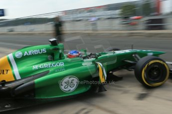 World © Octane Photographic Ltd. Formula 1 - Young Driver Test - Silverstone. Thursday 18th July 2013. Day 2. Caterham F1 Team CT03 – Will Stevens. Digital Ref : 0753lw1d9689