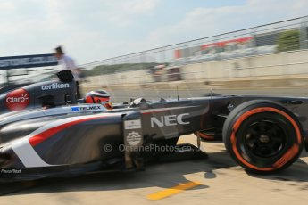World © Octane Photographic Ltd. Formula 1 - Young Driver Test - Silverstone. Thursday 18th July 2013. Day 2. Sauber C32 - Nico Hülkenberg. Digital Ref : 0753lw1d9696