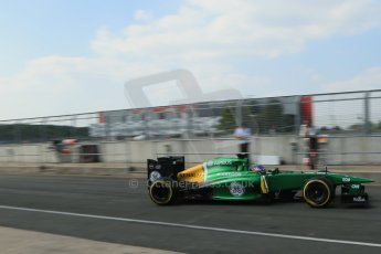 World © Octane Photographic Ltd. Formula 1 - Young Driver Test - Silverstone. Thursday 18th July 2013. Day 2. Caterham F1 Team CT03 – Will Stevens. Digital Ref :  0753lw1d9711