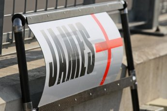World © Octane Photographic Ltd. Formula 1 - Young Driver Test - Silverstone. Wednesday 17th July 2013. Day 1. Sahara Force India - James Calado pit board. Digital Ref : 0752lw1d5777