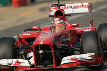 World © Octane Photographic Ltd. Formula 1 - Young Driver Test - Silverstone. Wednesday 17th July 2013. Day 1. Scuderia Ferrari F138 - Davide Rigon. Digital Ref : 0752lw1d8545