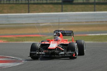 World © Octane Photographic Ltd. Formula 1 - Young Driver Test - Silverstone. Wednesday 17th July 2013. Day 1. Marussia F1 Team MR02 - Tio Ellinas. Digital Ref : 0752lw1d8717