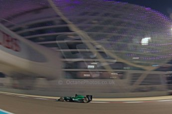 World © Octane Photographic Ltd. Friday 21st November 2014. Abu Dhabi Grand Prix - Yas Marina Circuit - Formula 1 Practice 2. Caterham F1 Team CT05 – Kamui Kobayashi. Digital Ref: 1161CB7D8159