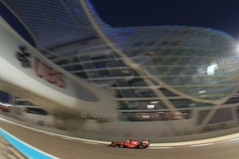 World © Octane Photographic Ltd. Friday 21st November 2014. Abu Dhabi Grand Prix - Yas Marina Circuit - Formula 1 Practice 2. Scuderia Ferrari F14T – Kimi Raikkonen. Digital Ref: 1161CB7D8177