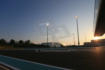 World © Octane Photographic Ltd. Friday 21st November 2014. Abu Dhabi Grand Prix - Yas Marina Circuit - Formula 1 Practice 2. Yas Marina circuit at sunset. Digital Ref: 1161LB1D4601