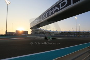 World © Octane Photographic Ltd. Friday 21st November 2014. Abu Dhabi Grand Prix - Yas Marina Circuit - Formula 1 Practice 2. Caterham F1 Team CT05 – William Stevens. Digital Ref: 1161LB1D4639