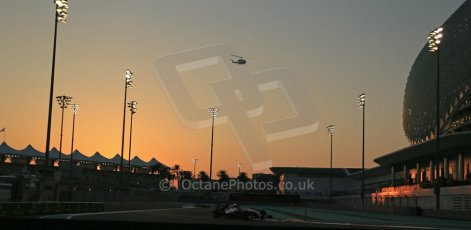 World © Octane Photographic Ltd. Friday 21st November 2014. Abu Dhabi Grand Prix - Yas Marina Circuit - Formula 1 Practice 2. Mercedes AMG Petronas F1 W05 - Nico Rosberg. Digital Ref: 1161LB1D4780