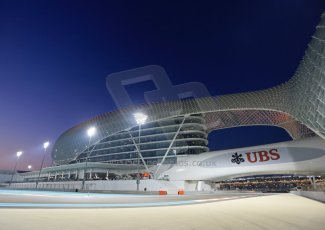 World © Octane Photographic Ltd. Friday 21st November 2014. Abu Dhabi Grand Prix - Yas Marina Circuit - Formula 1 Practice 2. Yas Marina circuit at dusk. Digital Ref: 1161LB1D5278