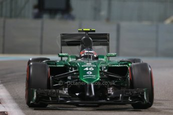World © Octane Photographic Ltd. Friday 21st November 2014. Abu Dhabi Grand Prix - Yas Marina Circuit - Formula 1 Practice 2. Caterham F1 Team CT05 – William Stevens. Digital Ref: 1161LB1D5503