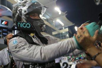 World © Octane Photographic Ltd. Sunday 23rd November 2014. Abu Dhabi Grand Prix - Yas Marina Circuit - Formula 1 Podium. Mercedes AMG Petronas – Nico Rosberg. Digital Ref: 1173LB1D7653