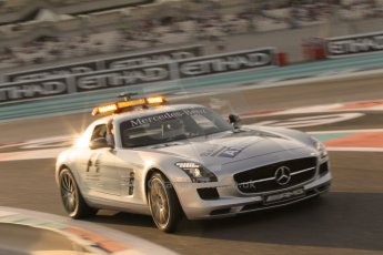 World © Octane Photographic Ltd. 2014 Formula 1 Abu Dhabi Grand Prix, F1 Qualifying, Saturday 22nd November 2014. Mercedes AMG GT SLS Safety Car. Digital Ref : 1166CB1D8149