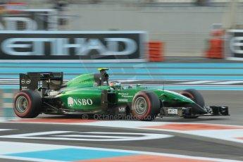 World © Octane Photographic Ltd. 2014 Formula 1 Abu Dhabi Grand Prix, F1 Qualifying, Saturday 22nd November 2014. Caterham F1 Team CT05 - William Stevens. Digital Ref : 1166CB1D8193