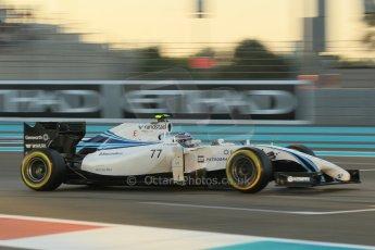 World © Octane Photographic Ltd. 2014 Formula 1 Abu Dhabi Grand Prix, F1 Qualifying, Saturday 22nd November 2014. Williams Racing FW36 – Valtteri Bottas. Digital Ref : 1166CB1D8212