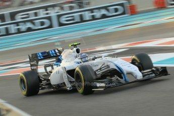 World © Octane Photographic Ltd. 2014 Formula 1 Abu Dhabi Grand Prix, F1 Qualifying, Saturday 22nd November 2014. Williams Racing FW36 - Valtteri Bottas. Digital Ref : 1166CB1D8306