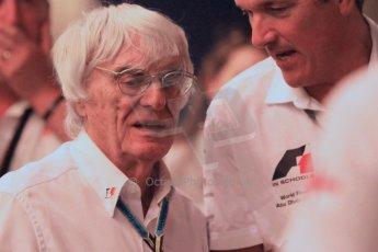 World © Octane Photographic Ltd. 2014 Formula 1 Abu Dhabi Grand Prix, F1 Qualifying, Saturday 22nd November 2014. Bernie Ecclestone. Digital Ref : 1166CB1D9007