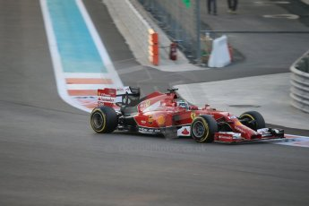 World © Octane Photographic Ltd. Saturday 22nd November 2014. Abu Dhabi Grand Prix - Yas Marina Circuit - Formula 1 Qualifying. Scuderia Ferrari F14T - Fernando Alonso. Digital Ref: 1166LB1D0790