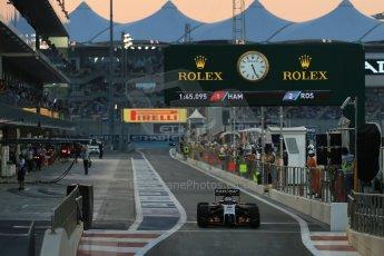 World © Octane Photographic Ltd. Saturday 22nd November 2014. Abu Dhabi Grand Prix - Yas Marina Circuit - Formula 1 Qualifying. Sahara Force India VJM07 – Sergio Perez. Digital Ref: 1166LB1D1333