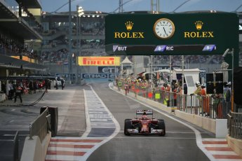 World © Octane Photographic Ltd. Saturday 22nd November 2014. Abu Dhabi Grand Prix - Yas Marina Circuit - Formula 1 Qualifying. Scuderia Ferrari F14T – Kimi Raikkonen. Digital Ref: 1166LB1D1342