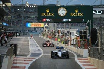 World © Octane Photographic Ltd. Saturday 22nd November 2014. Abu Dhabi Grand Prix - Yas Marina Circuit - Formula 1 Qualifying. Williams Martini Racing FW36 – Valtteri Bottas. Digital Ref: 1166LB1D1378